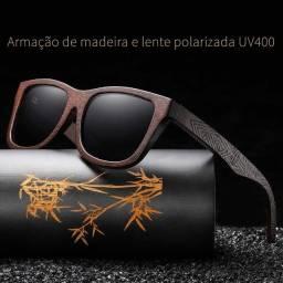 Óculos De Sol com Armação de Madeira Polarizado Produto exclusivo