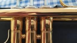 Trompete Yamaha ytr2330 laqueado dourado semi novo