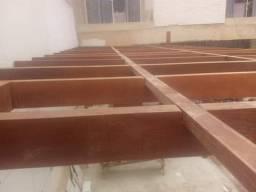 Telhado Dek pergolado colocaçãode portas e escadas
