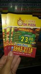 1000 Folhetos Panfletos 10x15cm 90gr 89,00 Gráfica Cardápios Pizzaria