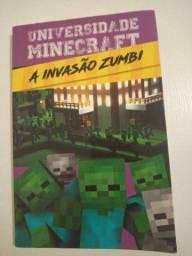 Livro a invasão zumbi Minecraft
