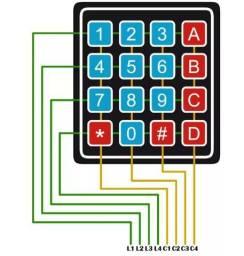 Teclado Membrana Matricial 4x4 16 Teclas Keypad