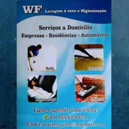 Limpeza Lavagem a seco Higienização Impermeabilização sofá