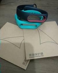2 Pulseiras + 2 Peliculas para pulseira inteligente Xiaomi MiBand 2