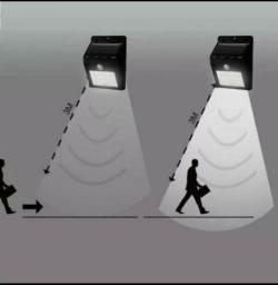Luminária de parede solar com sensor de movimento