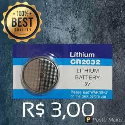 Bateria pilha CR2025 e CR2032