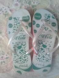 Chinelas coca cola