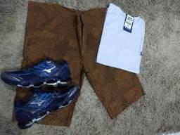 Combo: Camisa + Bermuda + Tênis