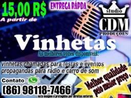 Vinhetas e anúncios Locução-CDM produtora