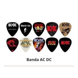 Kit Palhetas Personalizadas Bandas de Rock com 10 Modelos