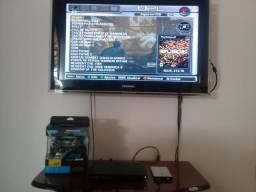 PS2 com 100 jogos no HD 2 controles e um memorie Card