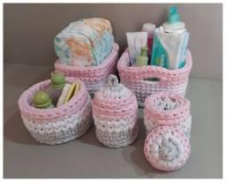 Kit higiene para organizar as coisinhas do seu bebê.