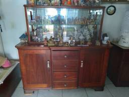 Cristaleira rústica madeira maciça