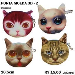 Bolsinha Porta Moeda 3D
