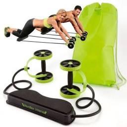 Elastico com roda para exercicio aparelho abdominal Revoflex Xtreme