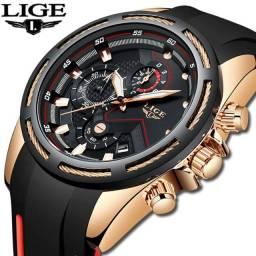 Relógio Masculino de Luxo Lige Fashion Sport - Elegância Masculina!