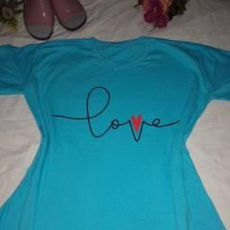 Vendo t Shirt Femenina 100%algodão 25$