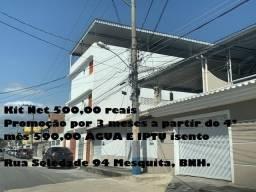 Kitnet fino acabamento BNH-Mesquita R$ 500,00
