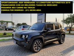 Novíssimo Jeep Renegade 1.8 Longitude 2019. Oportunidade!
