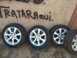 Vendo rodas originais do Honda Civic pneus Dunlop  95% de borracha
