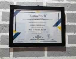 Molduração para certificados