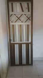 Porta de alumínio usada SEM PROBLEMAS