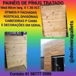 PAINÉIS DE PINUS TRATADO P PAREDES RÚSTICAS OU DECORAÇÕES