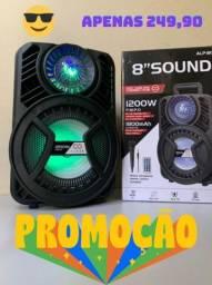 Caixa de Som 1200W ALP 805 C/ Bluetooth e Microfone ?: