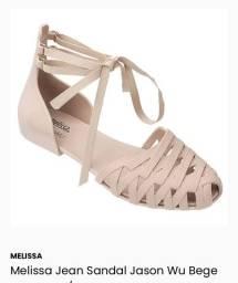 Sandália Melissa tamanho 37 bege