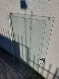 2 vidros temperados para janela com esquadrias