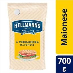 kit 5 maionese tradicional + econômica sachê 700g hellmanns