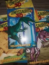 Coleção 8 livros infantis sobre dinossauros