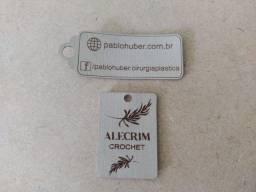 Etiquetas em sintético - 4.5 x 1.5 - Gravação e corte a laser