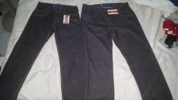 2 calças jeans escuro bem leves