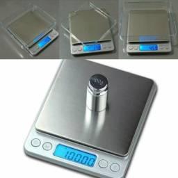 Mini Balança Digital De Precisão 0,1g Até 2000g C/bandeja