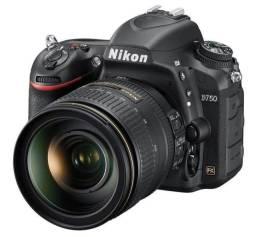Câmera nikon d750 usada porém estado de Nova