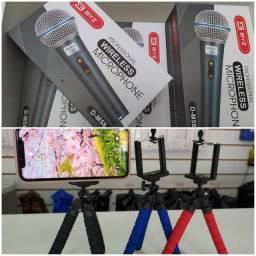 Promoção: Microfone com Fio Profissional+Tripé para celular.