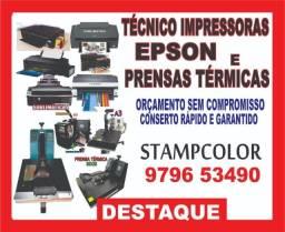 Tecnico manutençao e conserto de Impressoras Epsons e Prensas Planas
