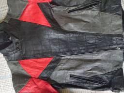 Jaqueta moto motoqueiro couro