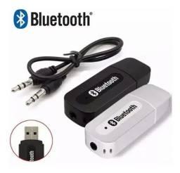 Adaptador Áudio Receptor Música Usb Saída Auxiliar Bluetooth Celular Tv Car