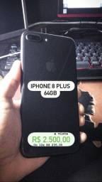 iPhone 8 Plus 64GB sem marca de uso, bateria 100%