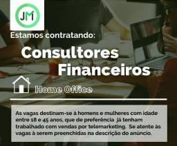 VAGA DE CONSULTOR FINANCEIRO HOME OFFICE