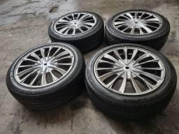 Jogo rodas 17 com pneus pirelli