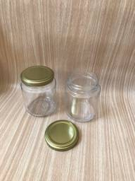 24 potes de vidro com tampa 250 ml