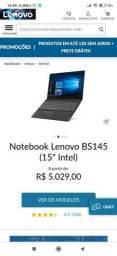Notebook para Professores Lenovo i3 4gb hd500 * Novo