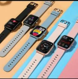 Relógio inteligente smartwatch colmi p8 original e barato.