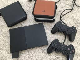 PlayStation dois com vários jogos