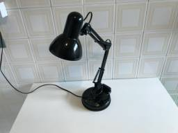 Luminária Flexível para Home Office Preta