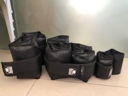 Kit academia Caneleiras  + halteres + suporte para halteres  pronto para seu treino