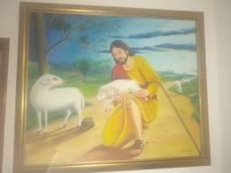Óleo sobre tela (O bom pastor)